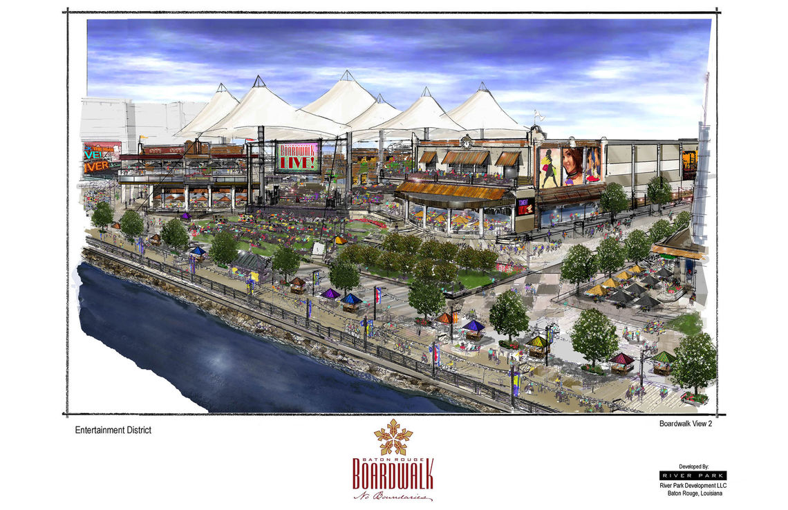 baton rouge river development concept baton rouge boardwalk color concept sketches 11x17 3