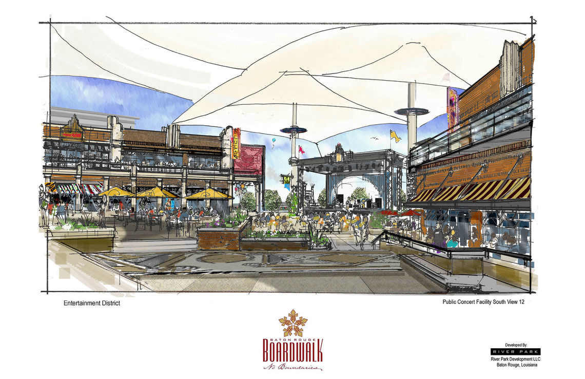 baton rouge river development concept baton rouge boardwalk color concept sketches 11x17 13